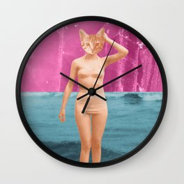 Meow-za! Wall Clock