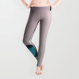 3D blue and purple water drop splash Leggings
