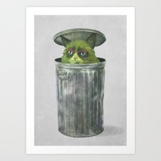 Grouchy Cat  Art Print