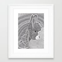donkey Framed Art Prints featuring Donkey by Olya Goloveshkina