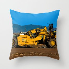 Cat Earth Scraper Throw Pillow