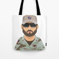 chris evans Tote Bags featuring Chris by Capitoni