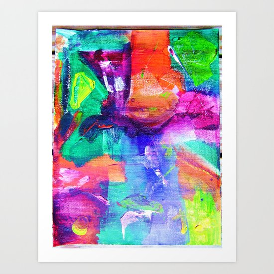 """Huh-Technicolor"" Art Print"