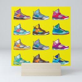 Colorful Sneaker set yellow illustration original pop art graphic print Mini Art Print