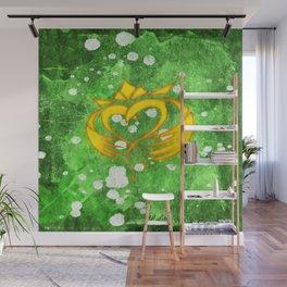 Claddagh Irish Celtic Splatter Wall Mural