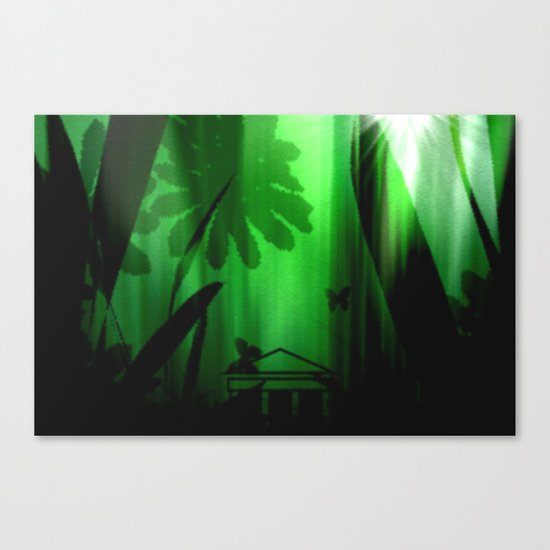 Deep in the rain forest. Canvas Print