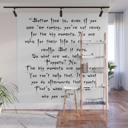 Buffy - Big Moments Quote Wall Mural