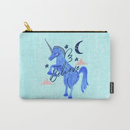 Night Sky Unicorn - Stars and Moon Carry-All Pouch