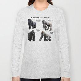 Gorillas of the World Long Sleeve T-shirt