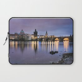 Charles Bridge at dawn Laptop Sleeve