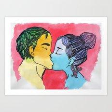 Love in water color. Art Print