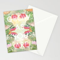 Grow As You Are Stationery Cards