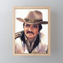 Burt Reynolds, Actor Framed Mini Art Print
