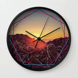 Peel sunset Wall Clock