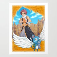 fairy tail Art Prints featuring Fairy tail by Rosalys
