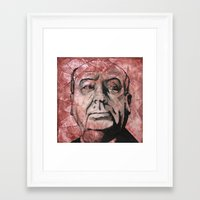 hitchcock Framed Art Prints featuring Hitchcock by Colunga-Art