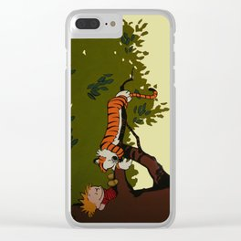 Calvin and Hobbes Clear iPhone Case