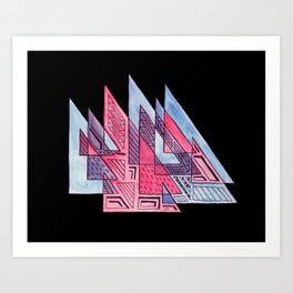 Triangulation Art Print