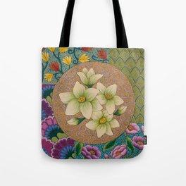 Jasmine Flower  Mandala  Tote Bag