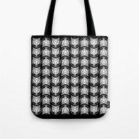 pentagram Tote Bags featuring Pentagram Wolf by Mohrne