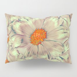 Warped Daisies | Real Dasiy Flowers, Floral Photo, Surreal, Abstract Photo Pillow Sham