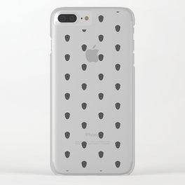 Trilobite Pattern Clear iPhone Case