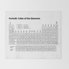 Periodic table throw blankets society6 periodic table of the elements throw blanket urtaz Choice Image