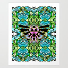 Hylian Royal Crest - Legend Of Zelda - Pattern Art Print