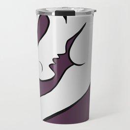 Picasso - Purple and White Travel Mug
