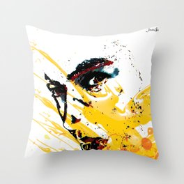 Street art yellow painting colors fashion Jacob's Paris Throw Pillow