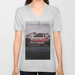 Drifting Car I Unisex V-Neck