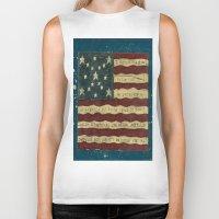 american flag Biker Tanks featuring American Flag by Argi Univrs