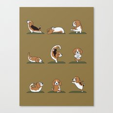 Beagle Yoga Canvas Print