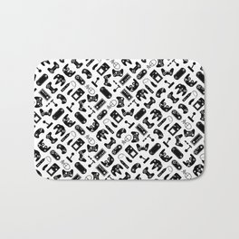 Control Your Game - Black on White Bath Mat
