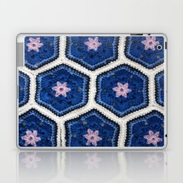 African Flower Crochet Art Laptop & iPad Skin