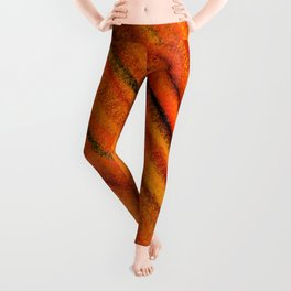 Rough Red Embers Abstract Leggings