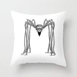 SPIDER . Black and White . Throw Pillow