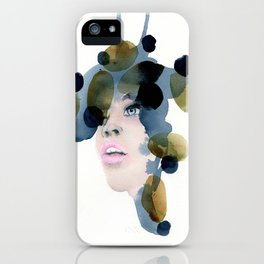 no. 488. A penny for your thoughts, Modern abstract portrait. iPhone Case