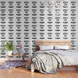 Stay Weird Alien Head Wallpaper