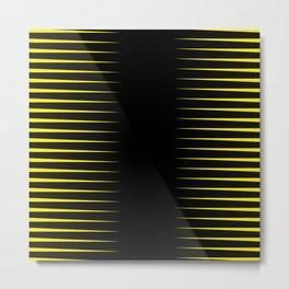 Yellow and black line background #society6 #decor #buyart #artprint Metal Print
