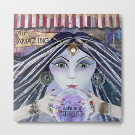THE AMAZING, Gypsy Fortune Teller Metal Print