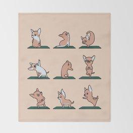 Chihuahua Yoga Throw Blanket