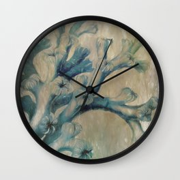 Blue Coral Wall Clock