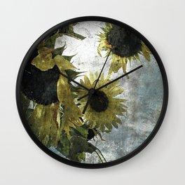 autumnal sunflowers Wall Clock