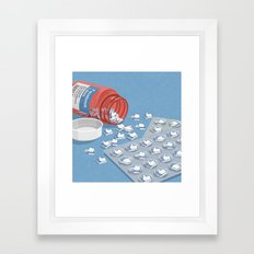 Likes pills Framed Art Print