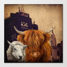 Sheep Cow 123 Canvas Print