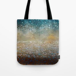 Landscape Dots - Turquoise Tote Bag