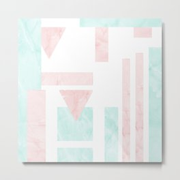 Pastel Marble Abstract Composition Metal Print