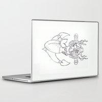 rockabilly Laptop & iPad Skins featuring Rockabilly Mermaid by Brogan Nugent Tickner