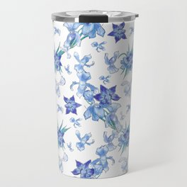 Purity of blue orchids - chic decor Travel Mug